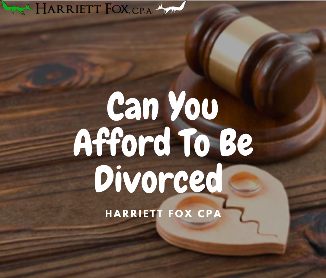Can You Afford To Be Divorced, By Harriett Fox